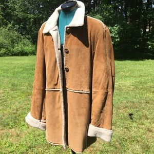Washable Suede Genuine Leather Coat